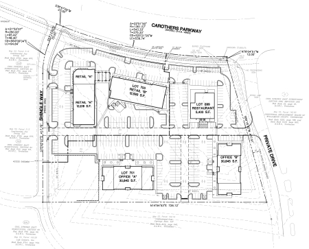 Carothers Park Shoppes Site Plan